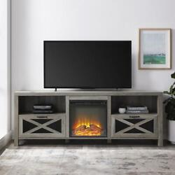 Fireplace Tv Stand For 80 Inch Tvs Farmhouse Entertainment Center Tv Console