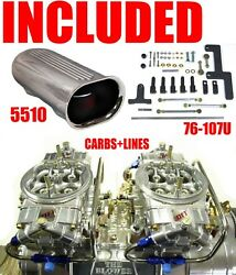 Quick Fuel Q-850-b2 850 Cfm Blower Clear Supercharger Carbs Linkage Scoop Combo