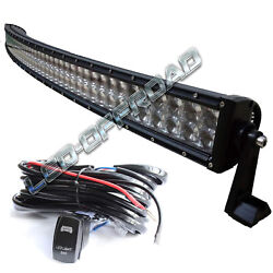 Curved 32inch 300w Led Work Bar Light For Tractor Boat Offroad 4wd 4x4 Truck Suv