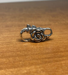 Authentic Trollbeads Silver Rose Taglo-00070 Ship Free Usa