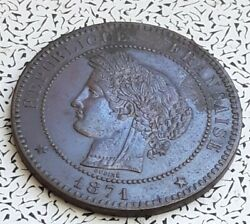 Nice Condition 1871-a France 10 Centimes Foreign Coin