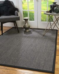Hand Crafted Sisal Non-slip Solid Eco-friendly Shadows Area Throw Rug Carpet
