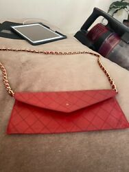 Authentic Clutch red mini Chanel $500.00