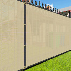 Customize 8and039 Ft Beige Privacy Screen Fence Windscreen Fence Mesh Shade Cover