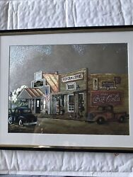 Coca Cola General Store Foil Picture Matted Framed By Kay Lamb Shannon