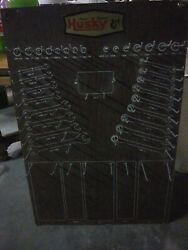 Vintage 'husky' Hand Tool Pegboard. Made For Wrenches Of Metric/sae And Sockets