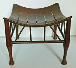 Antique Thebes Stool Wooden Egyptian Revival Arts And Crafts Period Circa 1900