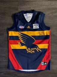 Mark Ricciuto Signed Afl Adelaide Crows Football Australian Rugby Youth Jersey