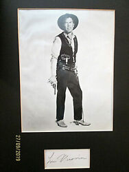 Lee Marvin The Man Who Shot Liberty Valance Orig,autograph And Photo Wow