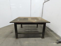 1-1/4 Thick Top Steel Machine Base Welding Table Work Bench 67x63x34-1/2