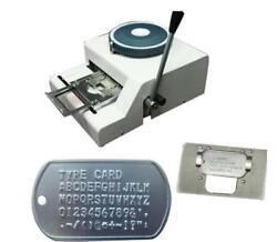 62d Characters Dog Id Tag Embosser Embossing Stamping Machine +turkey Characters
