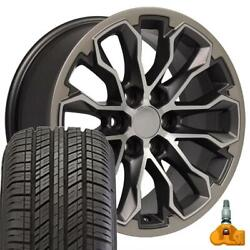 17 Gunmetal 5891 Wheels And 255/65r17 Tire Set Fits Canyon And Colorado Zr2