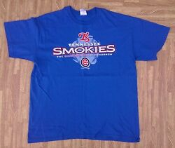 Tennessee Smokies Baseball Shirt Menand039s Large L Chicago Cubs Class Aa