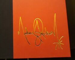 Michael Jackson Dancing The Dream Book First Pressing Red Cover Gold Autograph