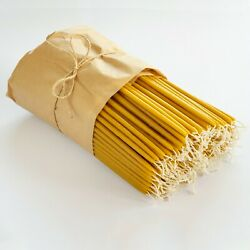 9x 9/32 Or 22cm X 7mm Pure Beeswax Greek Church Taper Candles- Discount Packs