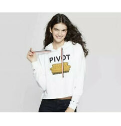 Friends Pivot Couch Cropped Hoodie Sweatshirt White Juniors Size Small