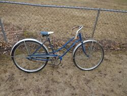 Vintage Sears Bicycle Womenand039s 26 Blue Original 1950s 1960s