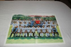 Poster Real Madrid As Champion Uefa 1984-85 History Players Vintage