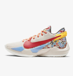 Nike Zoom Freak 2 Giannis Letter Bro Cw3162-001 Tan Red Brown Yellow Size 3.5-16
