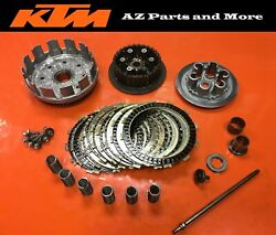 2008 Ktm 450 Xc-f Engine Clutch Basket Assembly Inner Outer Hub Pressure Plate