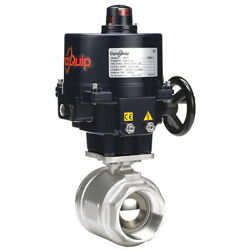 Dynaquip Controls E2s2aaje02 3 Fnpt Stainless Steel Electronic Ball Valve 2-way