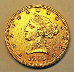 1899 Us Liberty Head 10 Gold Coin