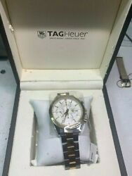 Tag Heuer Carrera 18k Yellow Gold And Stainless Steel Cv2050.bd0789