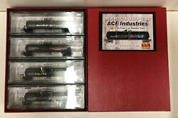 Micro-trains Weathered And Graffitied Acf Industries Four Car Runner Pack N Scale