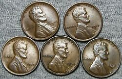 1909 Vdb 1911 1920 1926-s 1931-d Lincoln Cent --- Nice Coin Lot --- L799