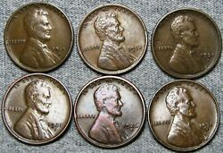 1915-d 1918 1921-s 1925-s 1926-s 1931-d Lincoln Cent --- Nice Coin Lot --- L803