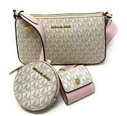 Michael Kors Jet Set Travel Small Crossbody With Tech Attached Leather Bag $168.94