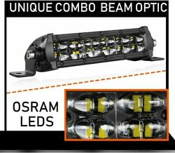 Dual Rows 8inch Led Work Light Flood Beam Offroad 4wd Suv Driving Fog Lamp