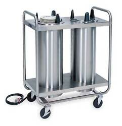 Lakeside 8209 Heated Tubular 2-stack Plate Dispenser Fits Plates 8-1/4 To