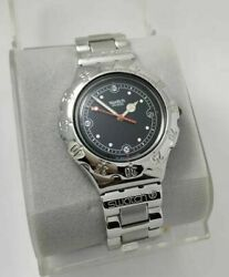 Nos Swatch Irony Yds401 Lava Rock Watch Swiss Made Steel Diver Watch Fast Ship