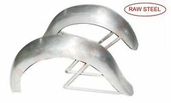 Indian Chief Sports Scout 1940 Raw Steel Front And Rear Mudguard Fender Set