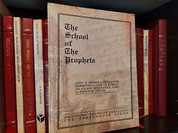 Extremely Rare 1922 School Of The Prophets Watchtower Ministry School Hardbound