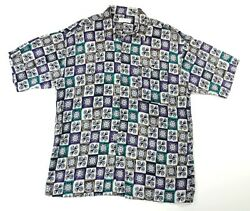 Londonderry Button Up Shirt Tropical Tribal Camp Clubbing Xl Ships Free