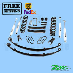 Suspension Lift Kit Zone 4.5 F And R Fit Jeep Cherokee Chrysler 4wd Gas 1984-01
