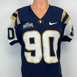 Nike Byu Cougars Game Worn Jersey Ncaa College Football Number 90 Sewn Size 44 L