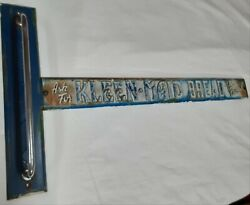 Vintage Sign Kleen-maid Bread Country / General Store Screen Door Pull / Push