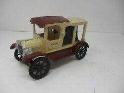 Vintage Cast Iron Delivery Type Truck Farm Produce Nice Shape Toy Unmarked