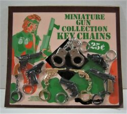 Mini Guns Collection Charms Toys Kc Old Gumball Vend Machine Display Card 167