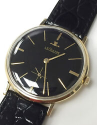 Le Coultre 18k Solid Gold Vintage Wind Up Watch Original Swiss Made 17 Jewels