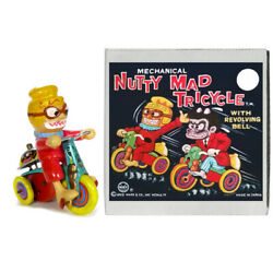1960s Nutty Mads Monster Tricycle Wind Up Toy By Marx Rare