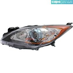New Halogen Head Lamp Lens And Housing Left Fits 2012-13 Mazda 3 Bfd1510l0d Capa