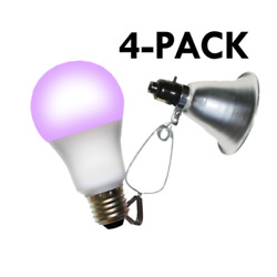 Miracle Led 602288 Clamp Lamp Grow Fixture + Red And Blue Led Grow Light 8 Pcs Kit