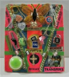 Monster Transfer Ford Lighter Charm Toys Old Gumball Vend Machine Disp Card 242
