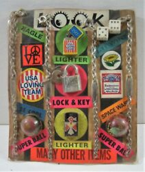 Look Lighters Lock Super Ball Charm Toys Old Gumball Vend Machine Disp Card 244