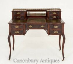 Chippendale Desk - Mahogany Writing Table Antique 1890