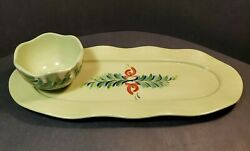 Southern Living At Home Provence By Gail Pittman Appetizer Tray And Bowl 2 Pc